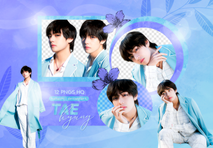 PNG PACK: Taehyung #9 (BTS 5TH ANNIVERSARY)