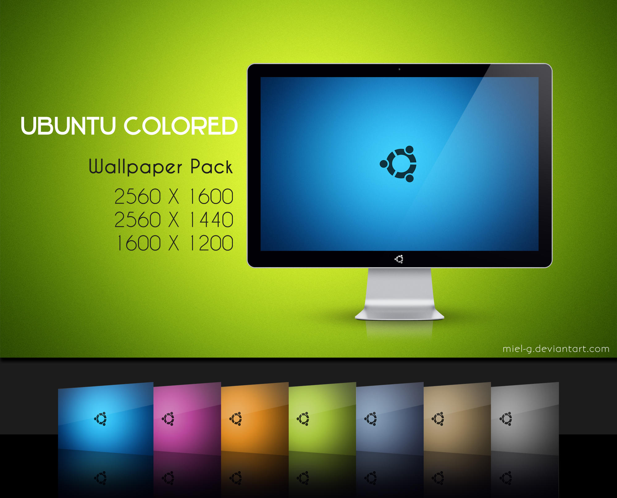 Ubuntu Colored by miel-g