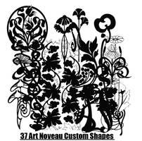 Art Nouveau shapes by CherubiumAngles