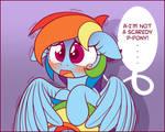 Dashie is a Scaredy Pony