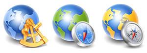 Globe Icons by Buzuk-Eugen