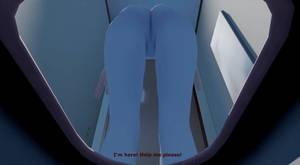 Unaware Giantess Gwen [Toilet] MMD Gif