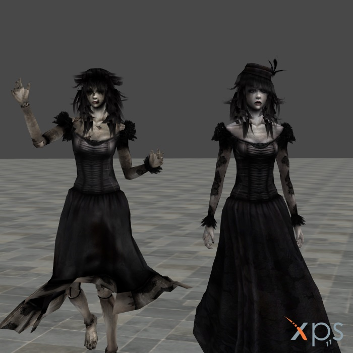 Fatal Frame 4 ghost-Kageri Sendou by mz3dcg