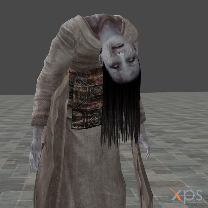 Fatal Frame 2 Ghost - Broken Neck Woman by mz3dcg on DeviantArt