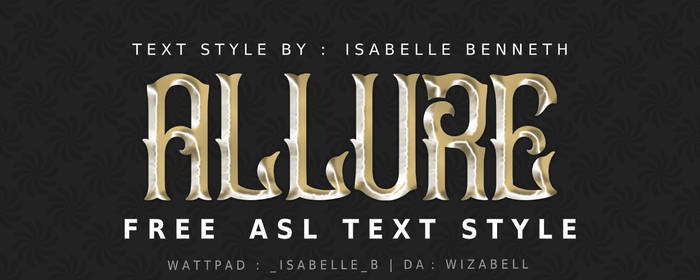 ASL TEXT STYLE : ALLURE