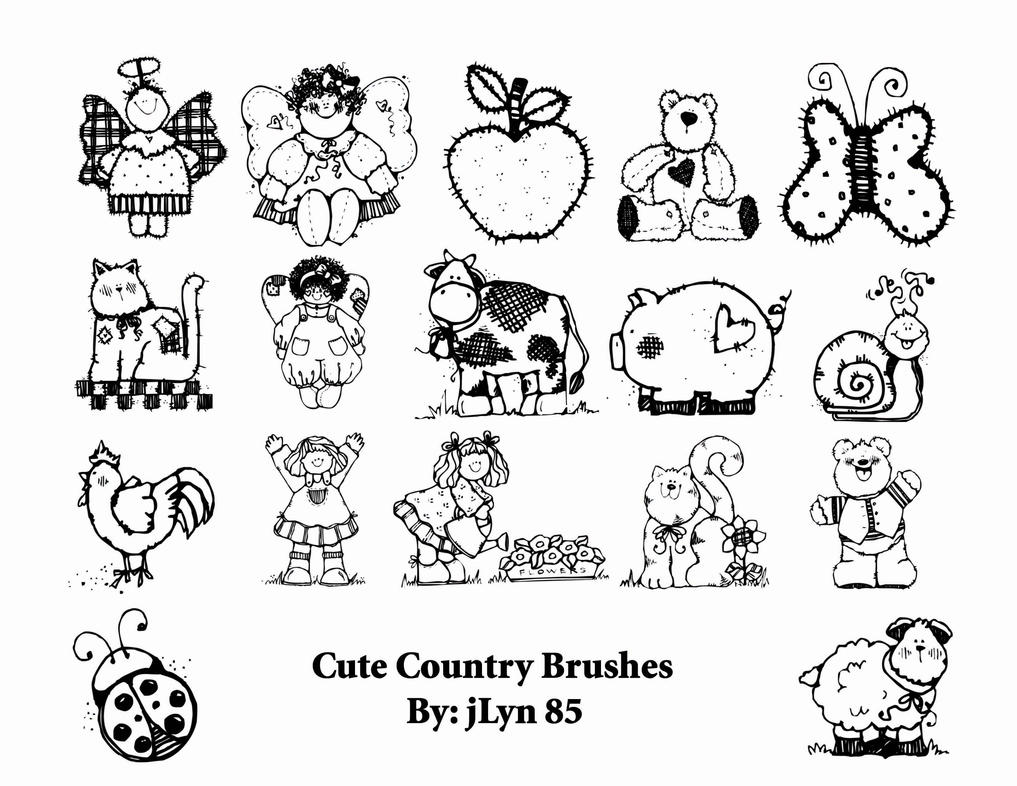 Cute Country Brushes by jLyn85