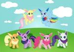Pony Eevee Background