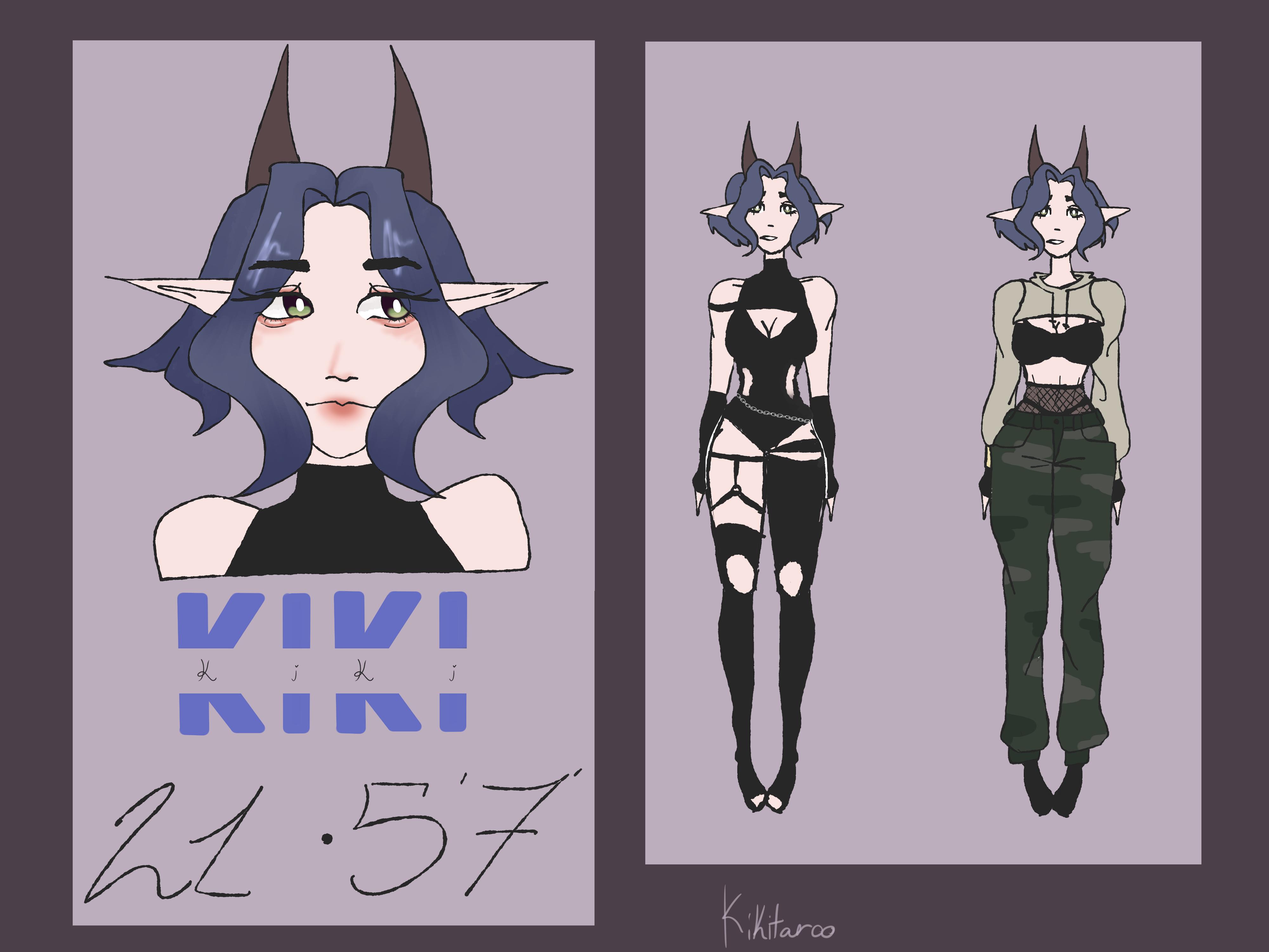 Kiki - Persona reference sheet by Kikitaroo