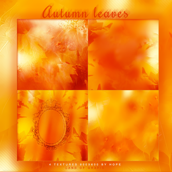 Texture pack - Autumn Leaves by Hope636