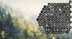 Honeycomb Black / White by SKJEGGET