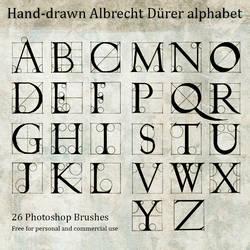 Hand Drawn Durer Alphabet