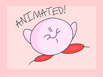 Flying Kirb. (Animated.) by 21WolfieProductions