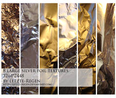 silver foil textures by letzte-Regen