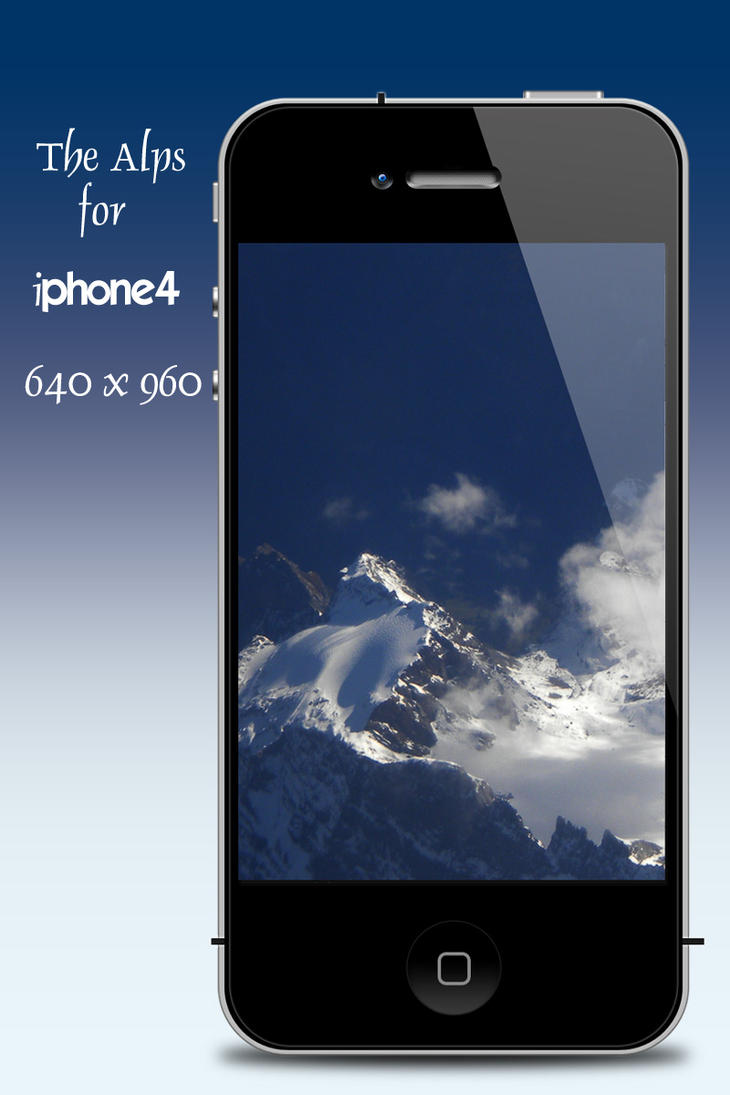 The Alps for iphone4 by teddybearcholla