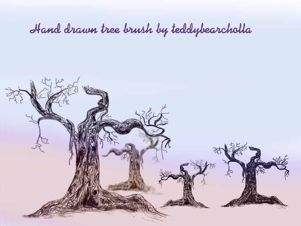 Hand drawn tree by teddybearcholla