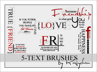 Photoshop text brushes by Kagychan
