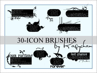 30 icon brushes by Kagychan