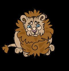 Chibi Lion by TheFallenWhisper
