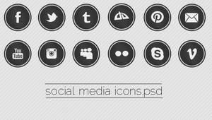 Social Media Icons PSD