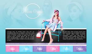 Ariana Grande PSD header