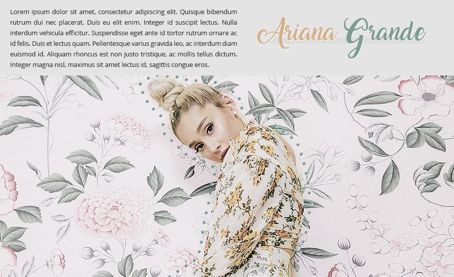 Ariana Grande psd header by Nikrecia