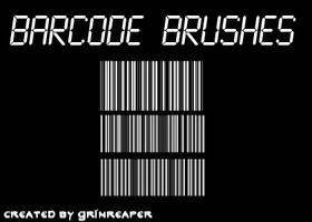 Barcode Brushes - GIMP by GrimReaper0