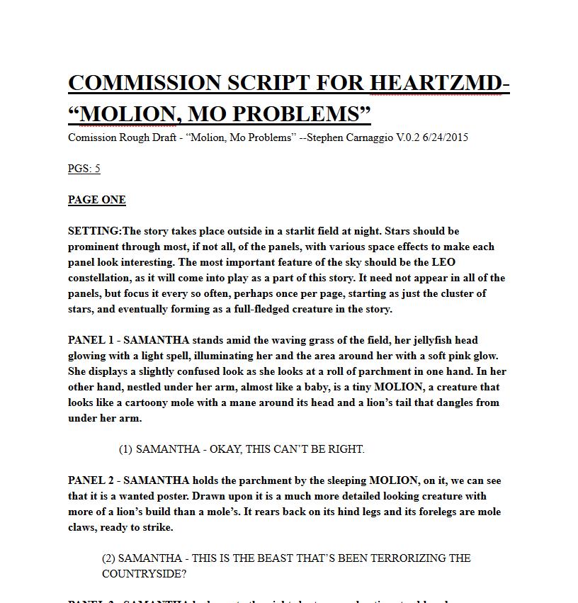 Commission: Molion Mo' Problems (Part 2) by Mavrickindigo