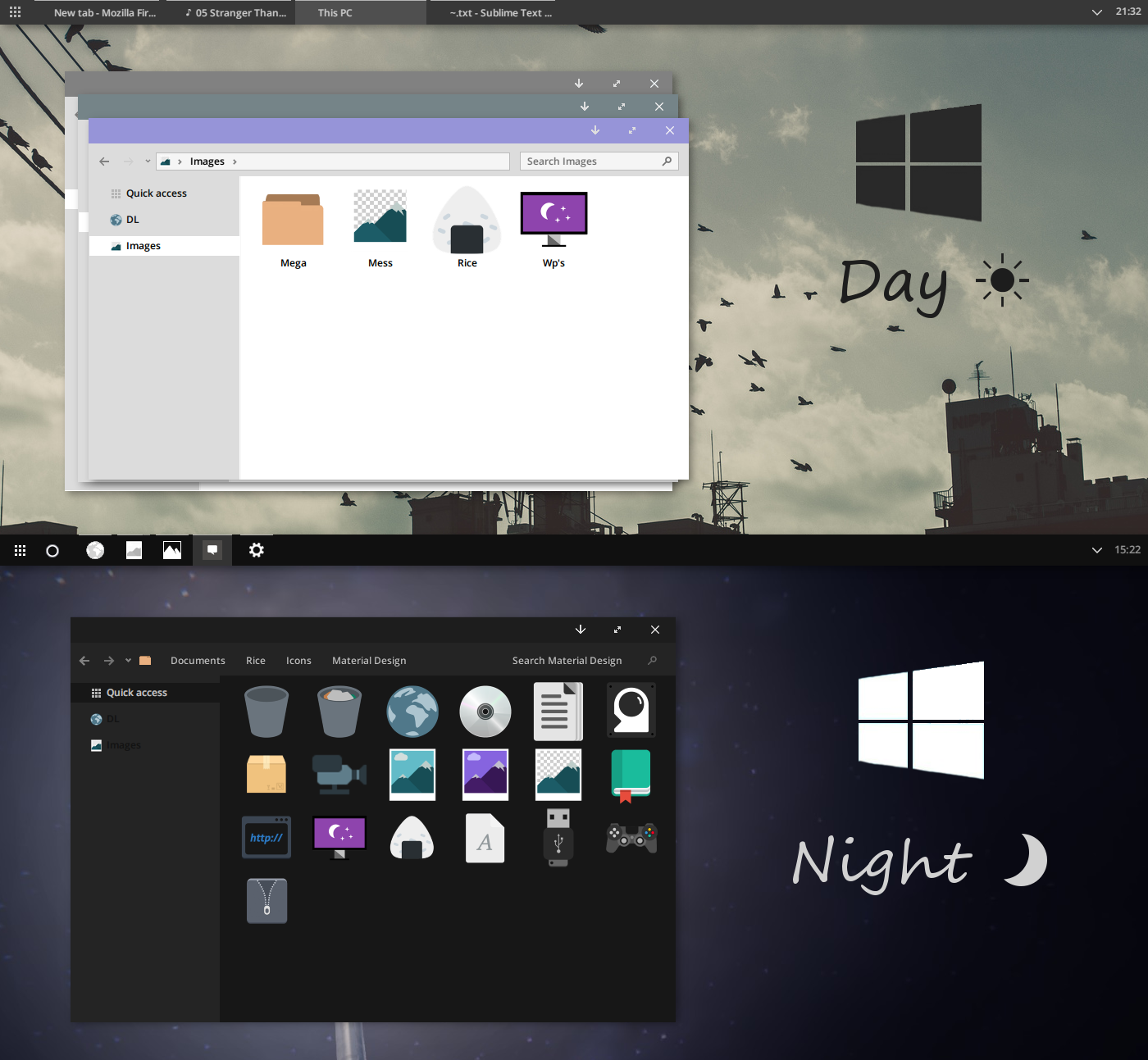 W10 Day and Night Visual Styles
