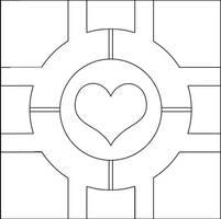 Companion Cube pattern by Eyespiral-stock