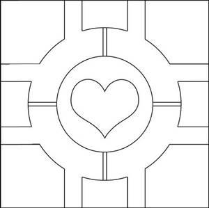 Companion Cube pattern