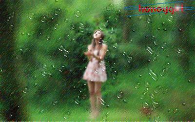 Girl In The Rain by bobhertley