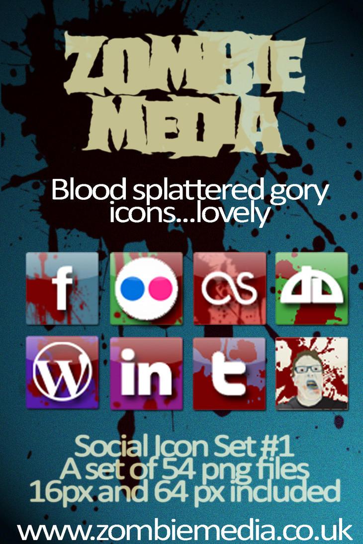 Zombie Media - Bloody Icons by zombiemedia75