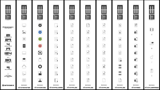 MINIMA WINDOWS 13 Icon Pack
