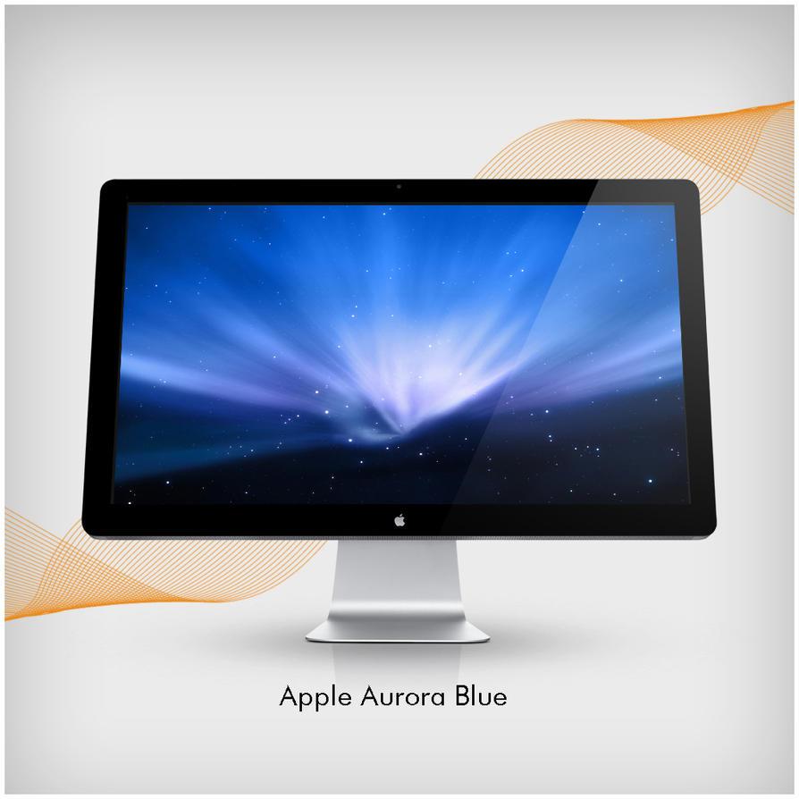 Apple Aurora Blue by Kinggreek