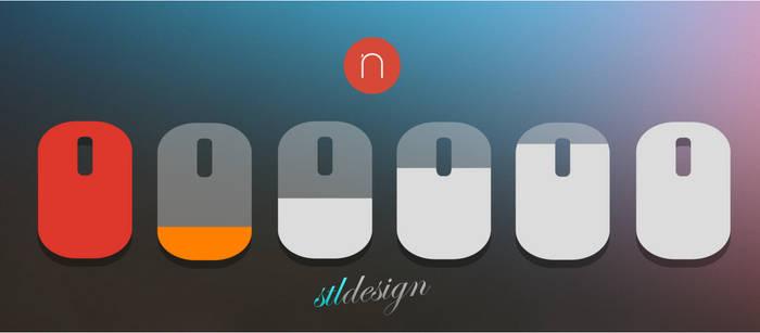 Mouse battery level Numix status icons
