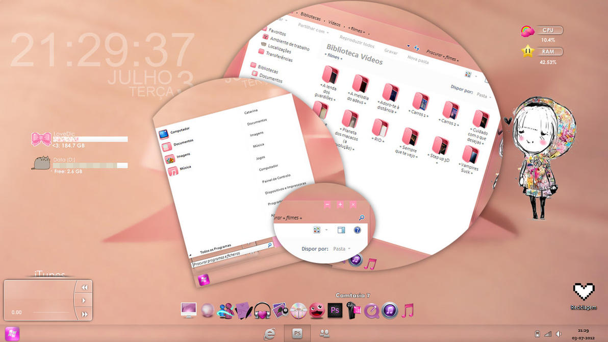 Pastel Theme Windows 7 by beatsense