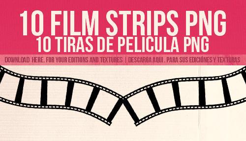 10 film strips png | 10 tiras de peliculas png by beatsense