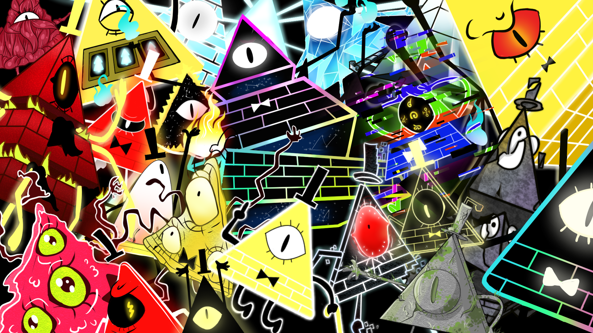 Bill Cipher All Forms Wallpaper By Z3llychan On Deviantart