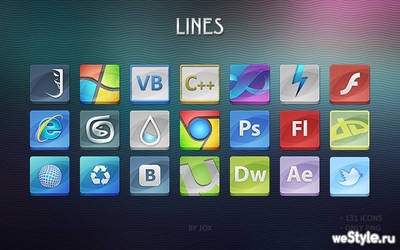 Lines icons