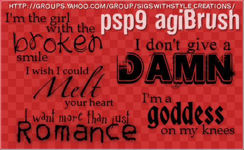 PSP Word Brushes by Agi