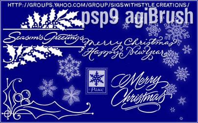 Christmas Brushes by Agi by PspAgi