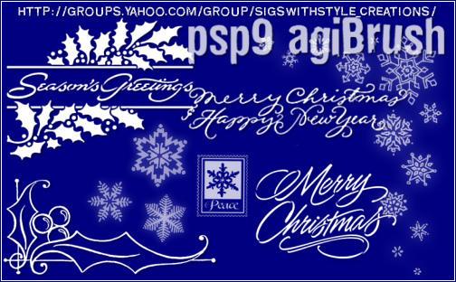 Christmas Brushes by Agi