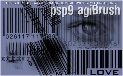 Barcode Brushes by PspAgi