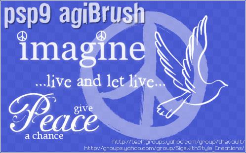 Peace Brushes by PspAgi