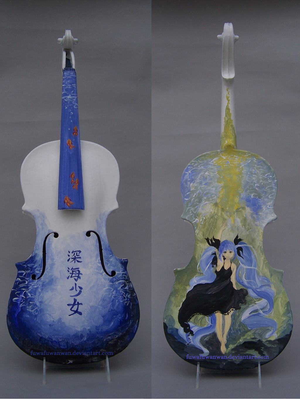 Hatsune Miku - Shinkai Shoujo Violin by fuwafuwanwan