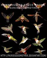 Multi Hummingbird Stock Pack by FairieGoodMother