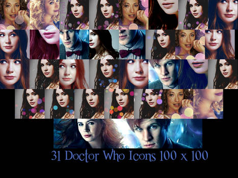 31 Doctor Who Icons