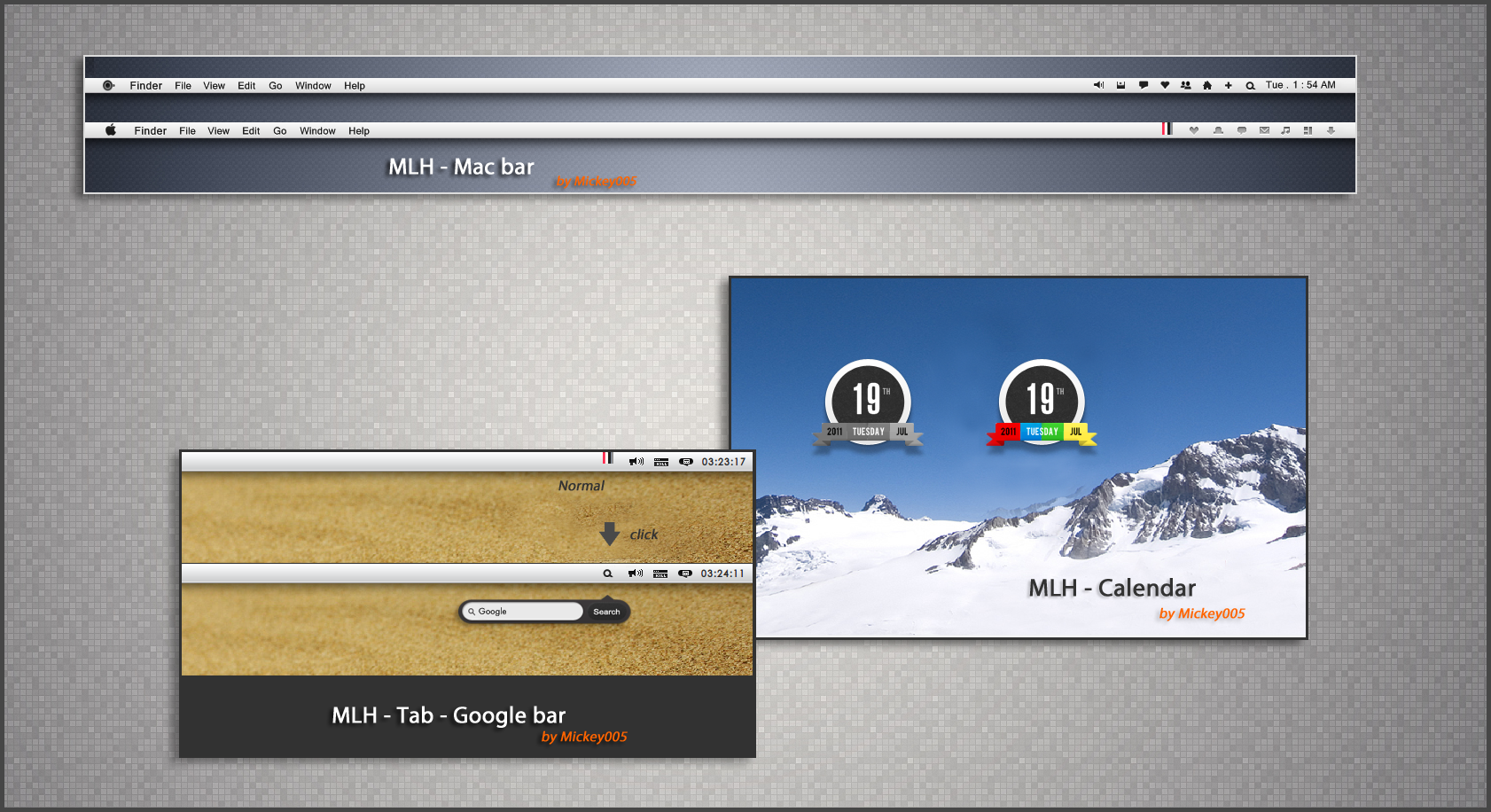 MLH-1   skins for rainmeter by mickey005
