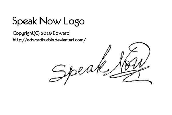 20100819 Speak Now Logo by EdwardHuaBin