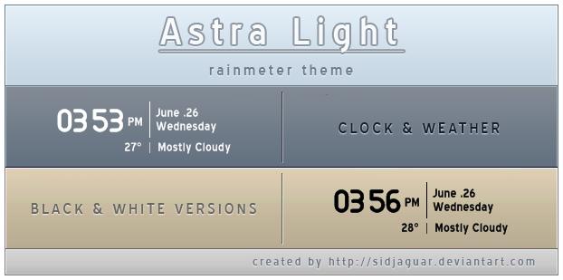 Arista Light Clock n' weather by sidjaguar